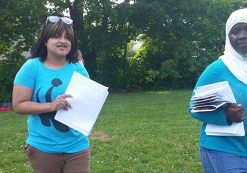 Abigail Hernandez at community event.jpg