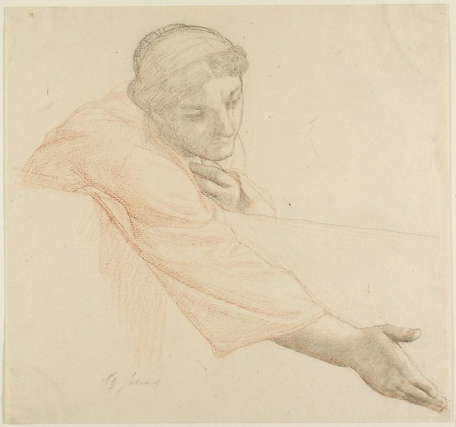 Woman Reaching Over a Wall, study for The Life of Saint Louis, King of France.jpeg