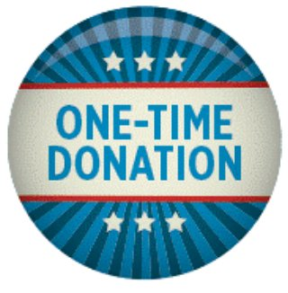 One-time donation button