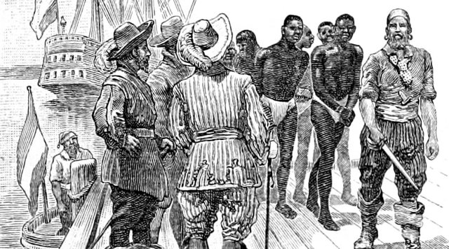 The_Leading_Facts_of_American_History_(1910)_-_The_First_Negro_Slaves_Brought_to_Virginia.jpg