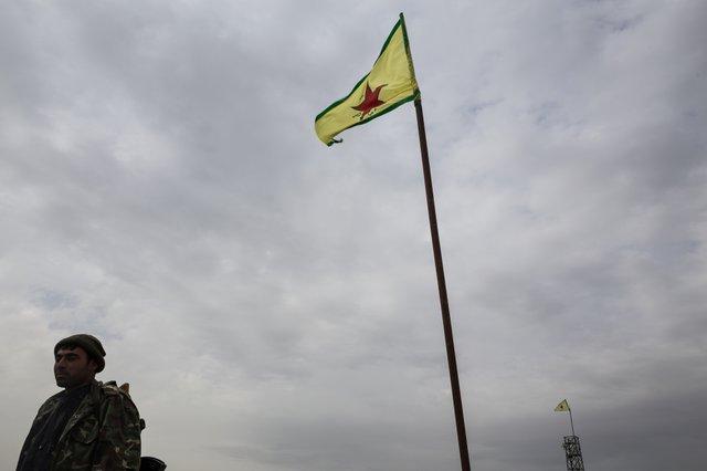 YPG Position frontline south of Kobane 2016