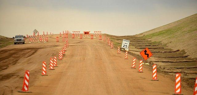 Dickinson Bypass construction