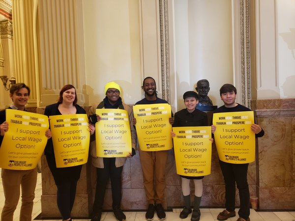 COPA members at capitol advocating for Local Wage Option bill.jpg