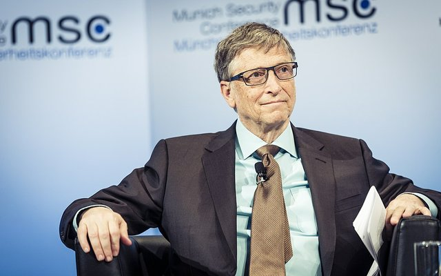 Bill Gates at the Munich Security Conference in 2017 in Munich, Germany