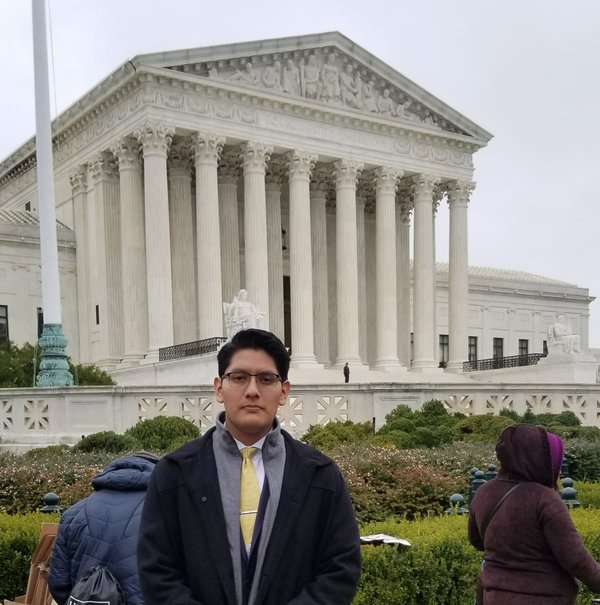 Irving Hernández in front of U.S. Supreme Court building the day DACA oral arguments were heard in November 2019, photo provided..jpg