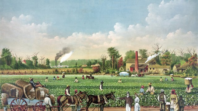 Romanticized view of a Mississippi plantation