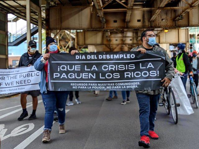Chicago march banner