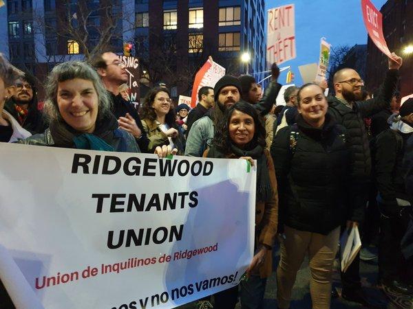 Ridgewood Tenants rally