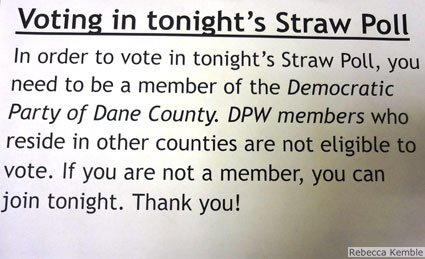 Rules for participating in straw poll.