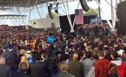 Obama Plays Summerfest in Wisconsin. Photo by Ruth Conniff