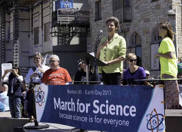Tia Nelson At March for Science, Madison, Wisconsin 2017