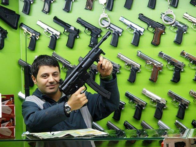 Guns, guns, guns.
